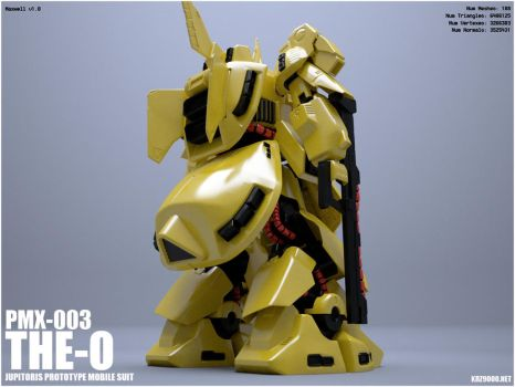 GUNDAM PMX-003 THE O - back by krz9000