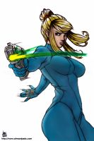 Zero Suit Samus by transfuse by A-mike
