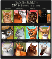 2016 Summary of Art by Jayie-The-Hufflepuff