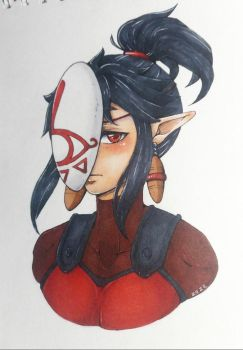 Behind the mask by Suicidal-Elf