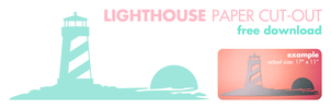 Free Lighthouse Printable by vicexversa