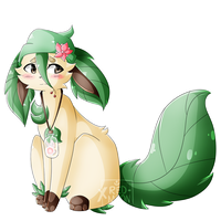 [Art Trade] .:Cherry the Leafeon:. by XRed-moon