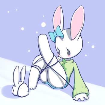 Rabbit girl in Snowdin by conbudou