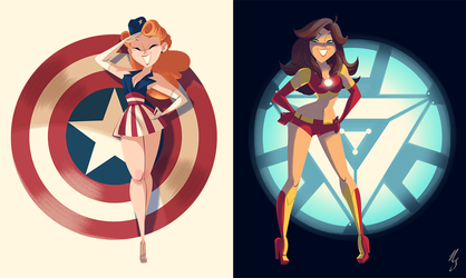 Civil War- Pinup Posters by NickSwift