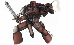 Assault Space Marine of Blood Raven chapter by MrCryCraft
