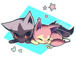 Poochyena and Skitty