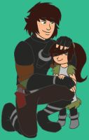 COM: Hiccup and Little Hera by WOLVIE-V0N-D00M