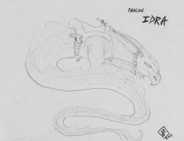 The Dracon known as Idra by AbstractPagan