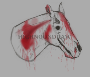 Auction -- Gore Horse by HighNoonDraw