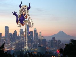Mega Mt. Lady in Seattle by doctorwhooves253