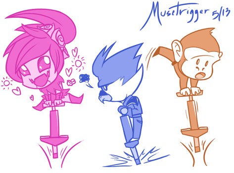 Starbound Quickie: Suddenly... Pogo sticks. by Musetrigger