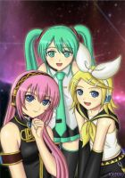 VOCALOID GIRLS by YamiKazu