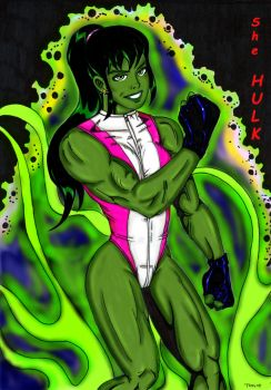 She - Hulk by Lpsalsaman