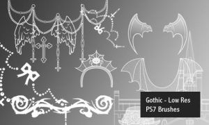 Gothic - PS7 Brushes by screentones