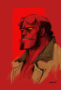 Hellboy by naratani