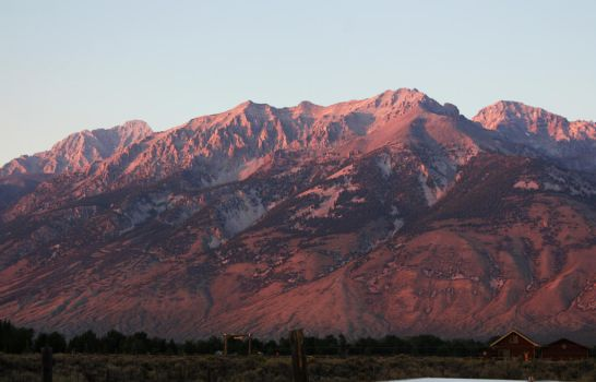Pink Sunset on Mountains 2 by GreenEyezz-stock