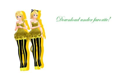 MMD TDA Cat Dress Rin (DL) by Solastraza