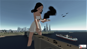 Attack of the 5,000ft Woman (Sizebox) by GiantessStudios101