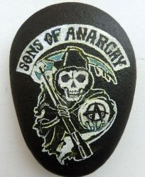 sons of anarchy painted rock by ahembe