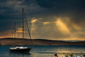 The sail in the evening by Cabbel