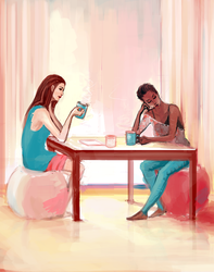 Day Four - Coffee in the morning by nanyin