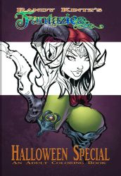 Halloween Coloring Book Front COVER by rantz