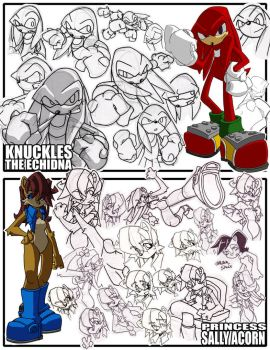 Sketches-Knux+Sally by herms85