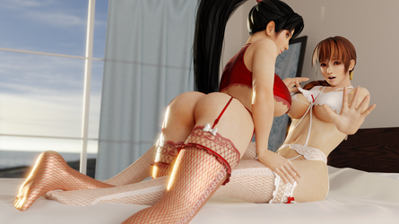 Dead or Alive (40 a - Momiji and Kasumi [B]) by AdeptusInfinitus