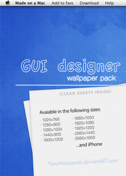 GUI designer - wallpaper pack by YaroManzarek