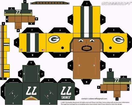 Cullen Jenkins Packers Cubee by etchings13