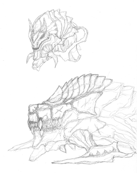 Creature Concept Attempt by Chronelic