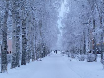 winter alley by 4ajka