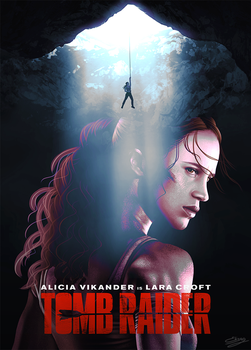 Fan art poster - Tomb Raider movie by ElyGraphic