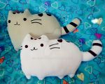 Pusheen pillows by akirepower