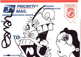 USPS Sticker 15 by Bainal