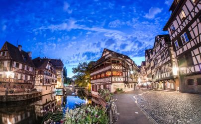 Blue Hour at Strasbourg by Pipera