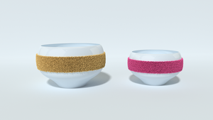 Tea Cups With A Terrycloth Strip by littlelightcz