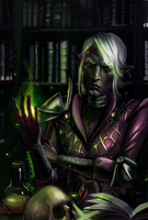Drow Elf mage by undeadcrabstick