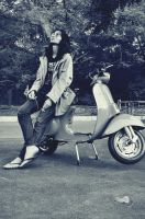 Cool Man With His Cool Vespa by PembiasPelangi