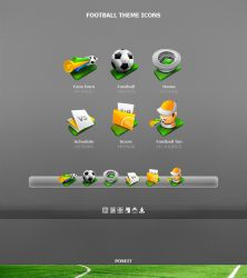 Football Theme icons by poseit