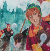 Fred Weasley: Bewitching Snowballs... by TheMihaelGraham