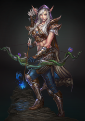 elf archer character design by macarious