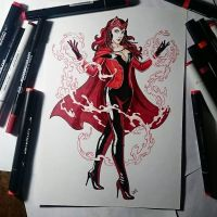 Scarlet Witch by Candra