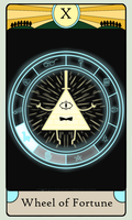GF Tarot Card- Wheel of Fortune by SugaryDeath
