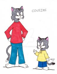Rusty and Dominic, Cousins by maxwestart