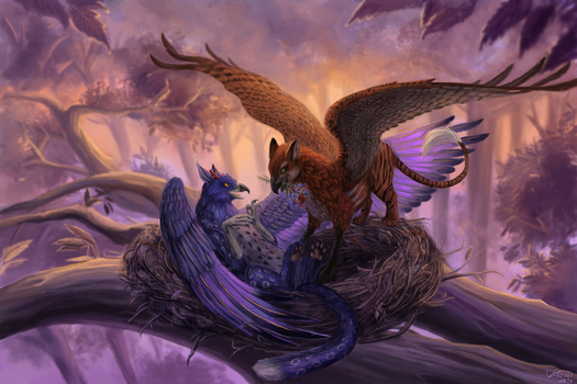 Gryphons Commission by x-Celebril-x