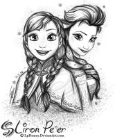 Anna and Elsa 01 + 02/16 by LPDisney