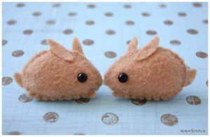 Little Brown Bunnies by littlepaperforest