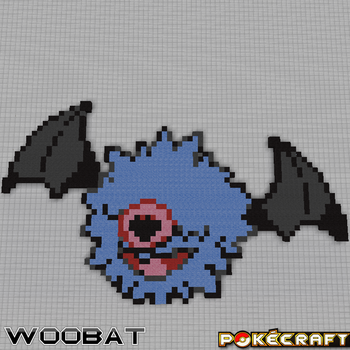 Pokecraft Woobat by PkmnMc