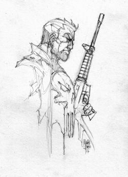 Sketch Punisher - Marcio Abreu by MARCIOABREU7